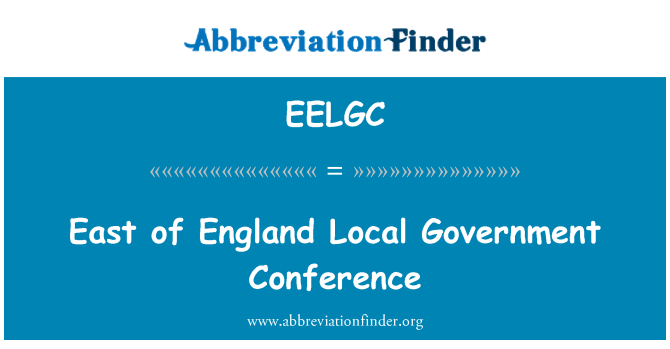 EELGC: East of England Local Government Conference