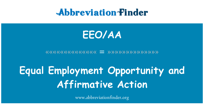 affirmative action is equal opportunity Affirmative action is a program created by the federal government in 1964 it is designed to remedy past discrimination in employment and eliminate current and future race and gender discrimination.