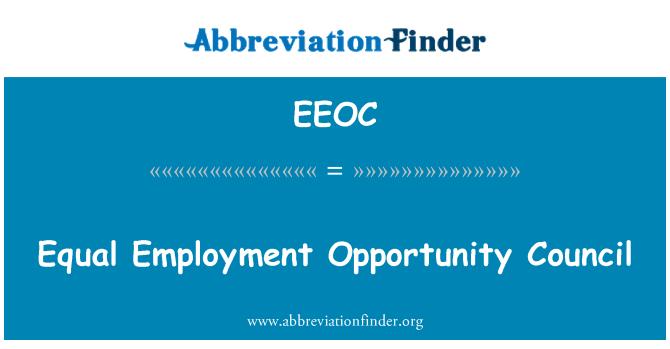 EEOC: Eşit istihdam fırsatı Konseyi