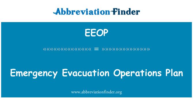EEOP: Acil tahliye işlemleri planı
