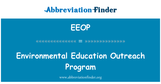 EEOP: Çevre Eğitimi sosyal yardım programı