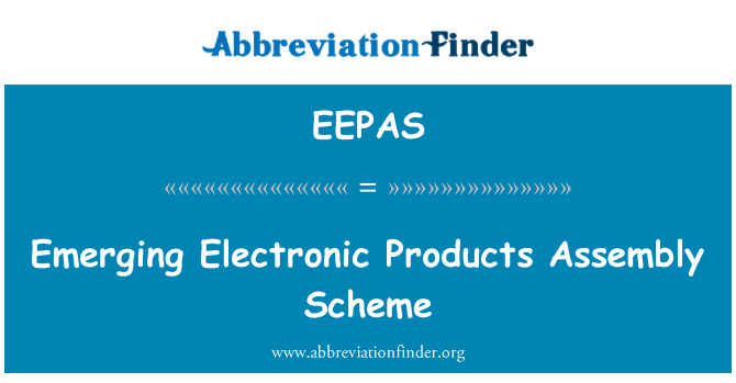 EEPAS: Emerging Electronic Products Assembly Scheme
