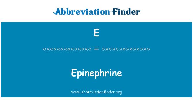 E: Epinefrina