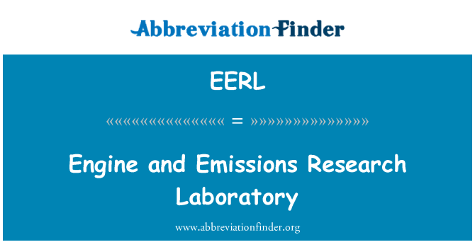 EERL: Engine and Emissions Research Laboratory