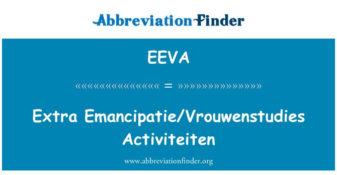 EEVA: Extra Emancipatie/Vrouwenstudies Activiteiten