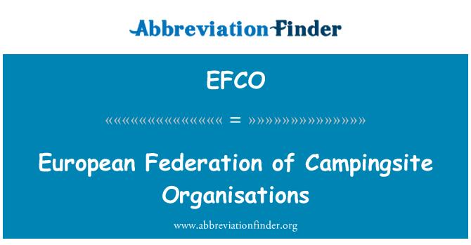 EFCO: European Federation of Campingsite Organisations
