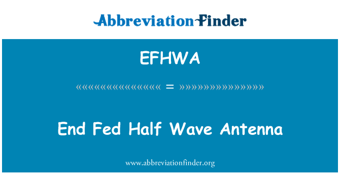 EFHWA: End Fed Half Wave Antenna