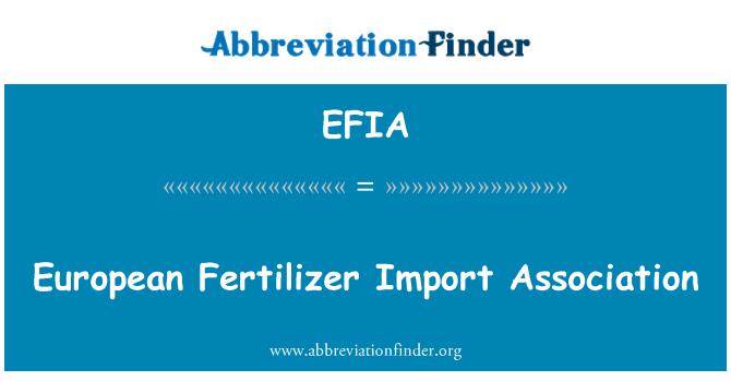 EFIA: European Fertilizer Import Association