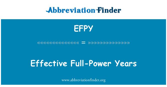 EFPY: Tõhus täisvõimsusel aastat