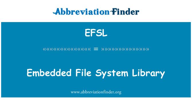 EFSL: Embedded File System Library