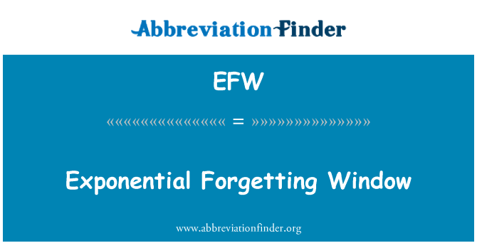 EFW: Exponential Forgetting Window