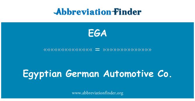 EGA: Egyptian German Automotive Co.
