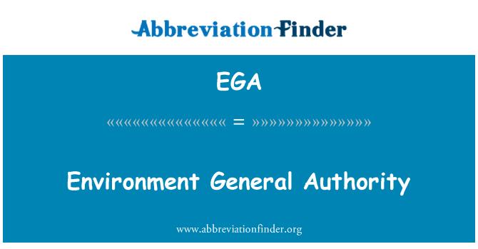 EGA: Environment General Authority