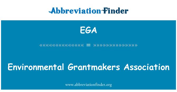 EGA: Environmental Grantmakers Association