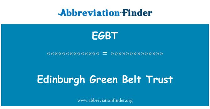 EGBT: Confianza del cinturón verde de Edimburgo