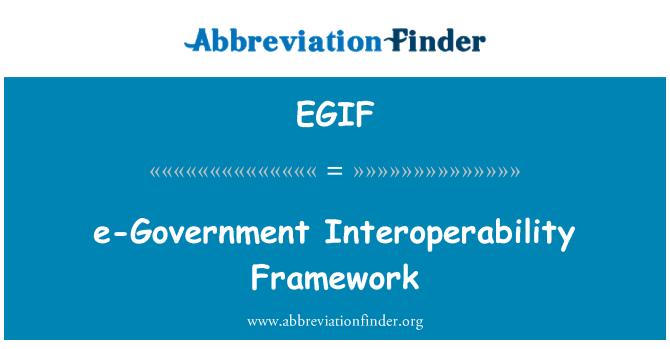 EGIF: Rahmens für die Interoperabilität von e-Government