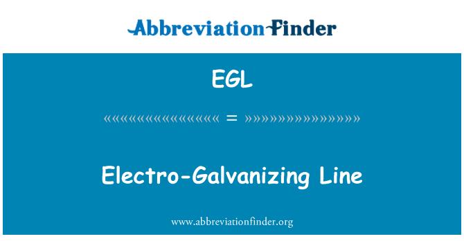 EGL: Electro-Galvanizing Line