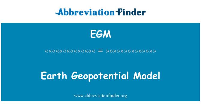 EGM: Earth Geopotential Model