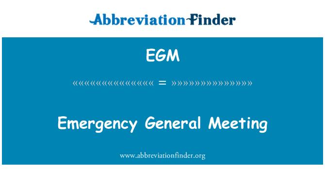 EGM: Emergency General Meeting
