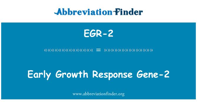 EGR-2: Respuesta de crecimiento precoz Gen-2