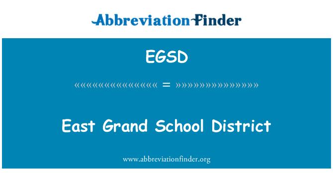 EGSD: East Grand School District