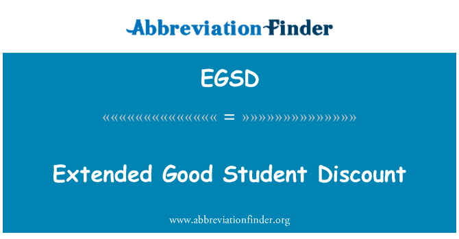 EGSD: Extended Good Student Discount