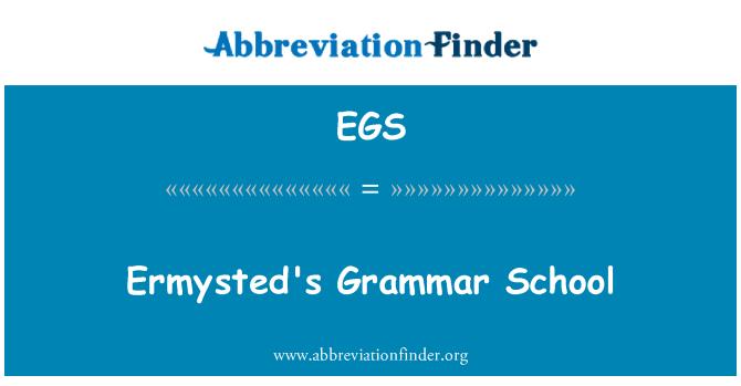 EGS: Ermysted's Grammar School