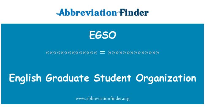 EGSO: English Graduate Student Organization