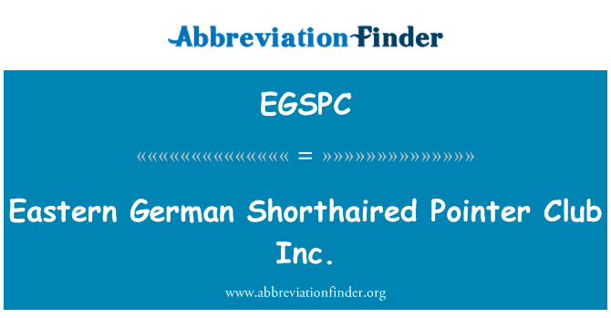 EGSPC: Eastern German Shorthaired Pointer Club Inc.