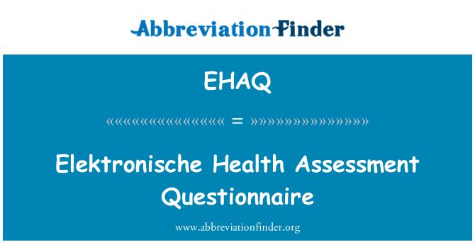 EHAQ: Elektronische Health Assessment Questionnaire
