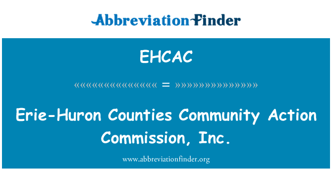 EHCAC: Erie-Huron Counties Community Action Commission, Inc.