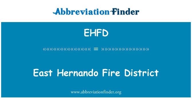 EHFD: East Hernando Fire District