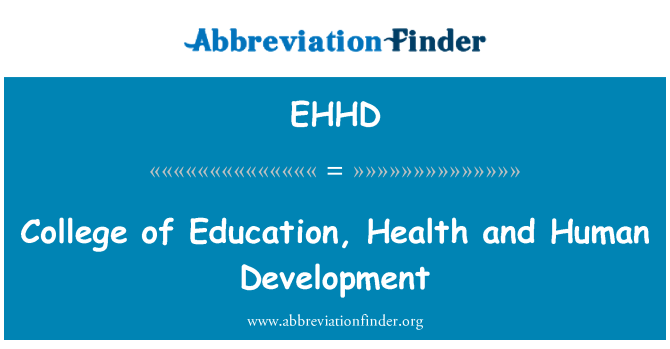 EHHD: College of Education, Health and Human Development