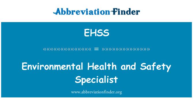 EHSS Definición: Especialista en seguridad y salud ...