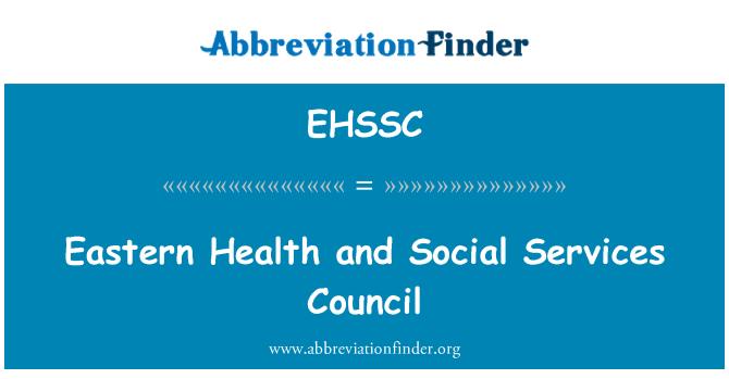 EHSSC: 东部卫生和社会服务理事会