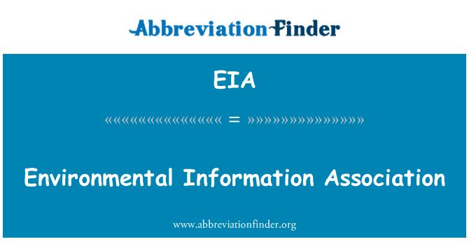EIA: Environmental Information Association