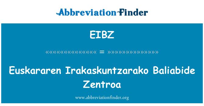EIBZ: Euskararen Irakaskuntzarako Baliabide Zentroa