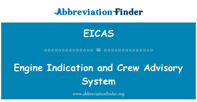 EICAS: Motor göstergesi ve mürettebat danışmanlık sistemi