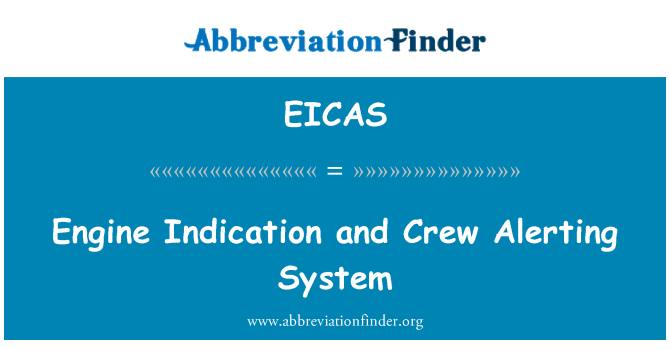 EICAS: Gösterge motor ve mürettebat Alerting sistem
