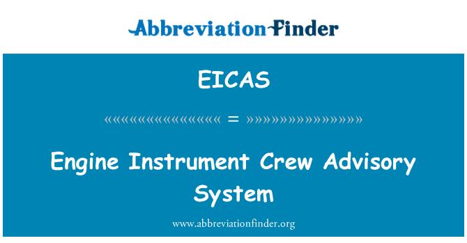 EICAS: Motor aracı ekip danışmanlık sistemi