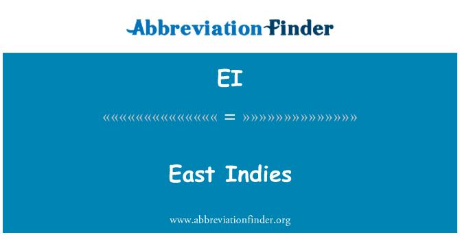 EI: East Indies