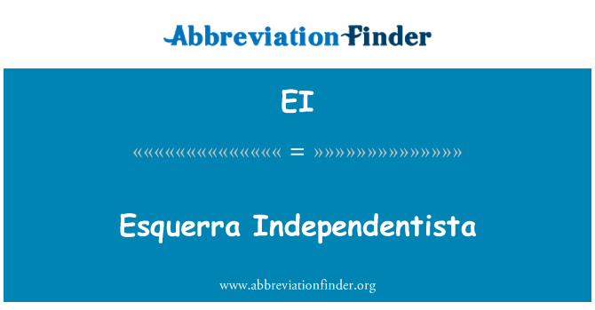 EI: Esquerra Independentista