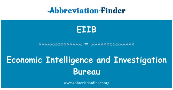 EIIB: Economic Intelligence and Investigation Bureau