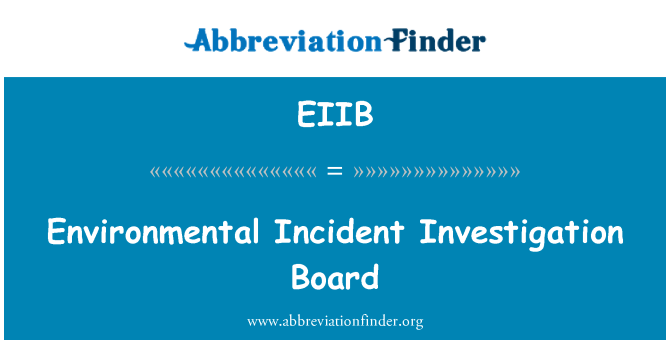 EIIB: Environmental Incident Investigation Board