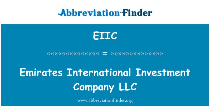 EIIC: Emirates uluslararası yatırım şirketi LLC