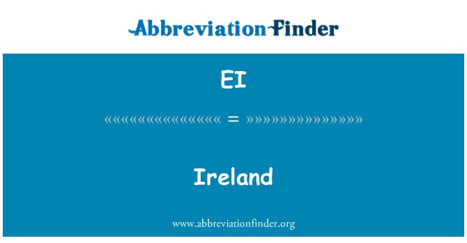 EI: Ireland