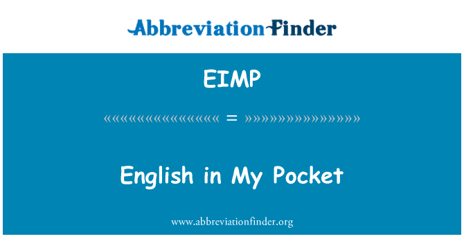 EIMP: English in My Pocket