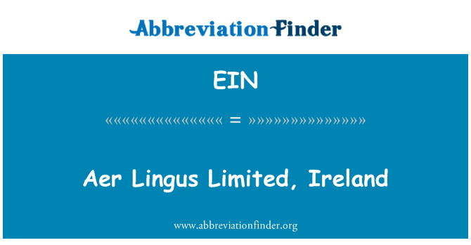 EIN: Aer Lingus Limited, Ireland