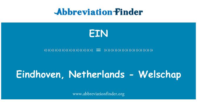 EIN: Eindhoven, Netherlands - Welschap