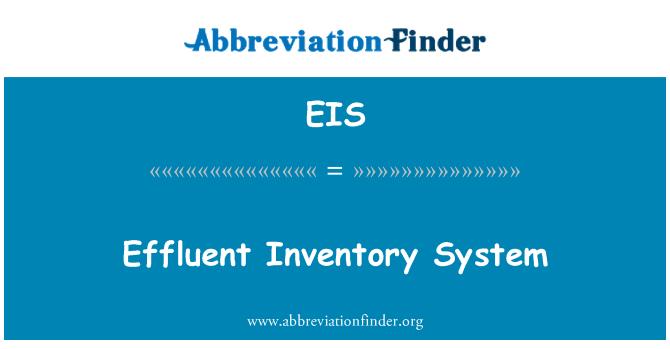 EIS: Effluent Inventory System